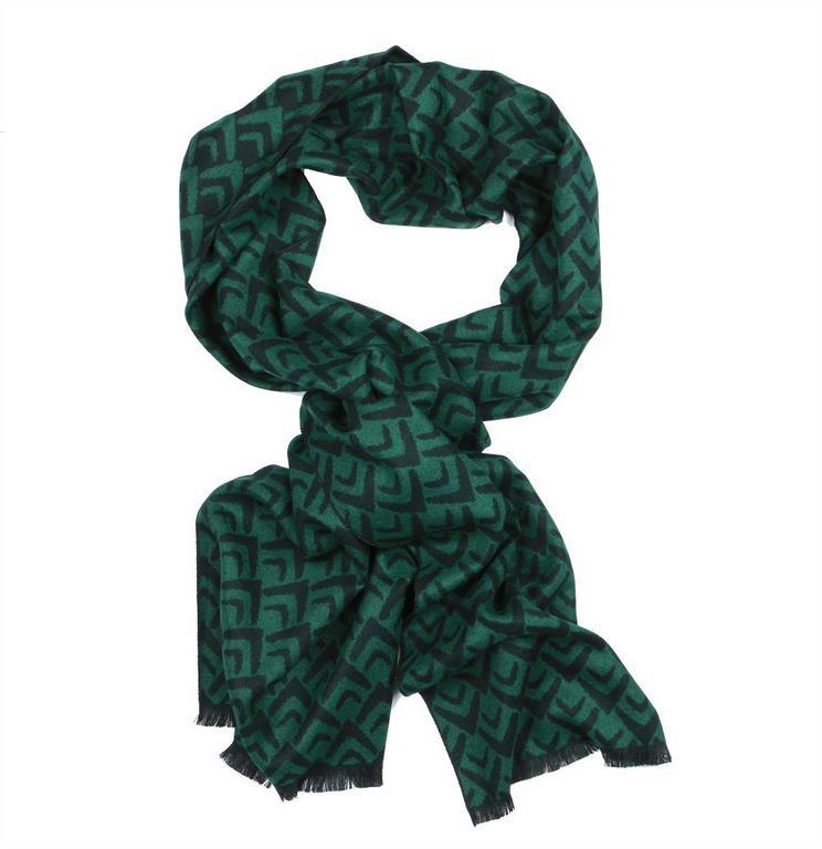 a627ffd151d Pánsky teplý šál na zimu z viskózy ORSI čierno- zelený - All4Men.sk