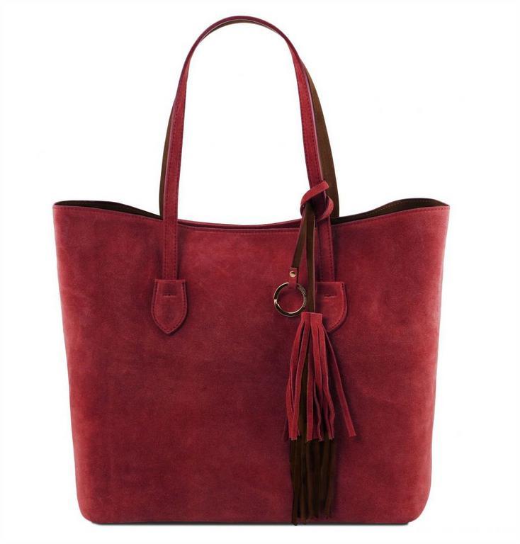 501ed43576 Luxusná dámska kabelka z brúsenej kože TUSCANY bordó - All4Men.sk