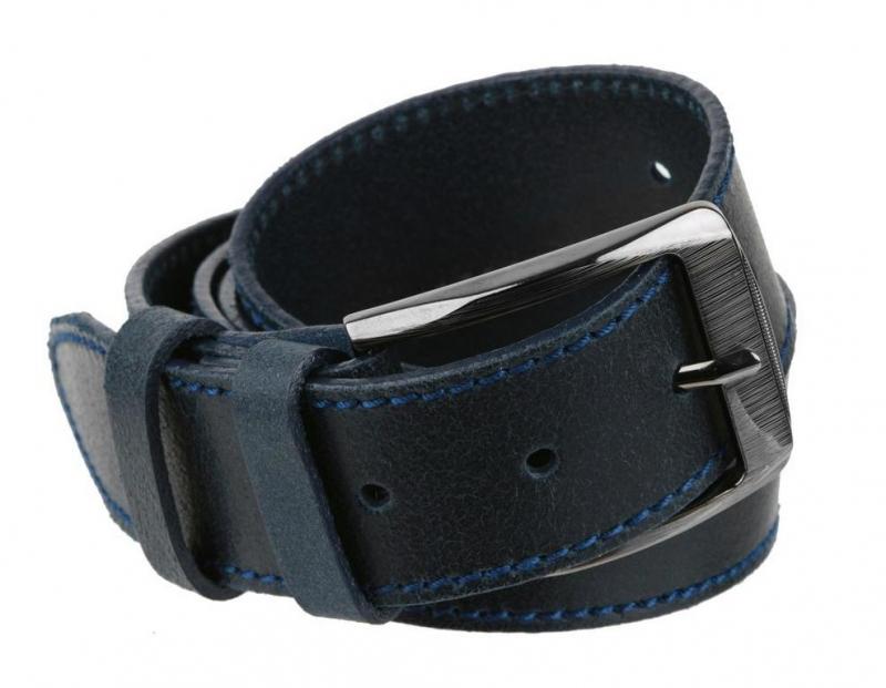 138a0be5d Modrý kožený opasok XXL MERCUCIO 4 cm - All4Men.sk