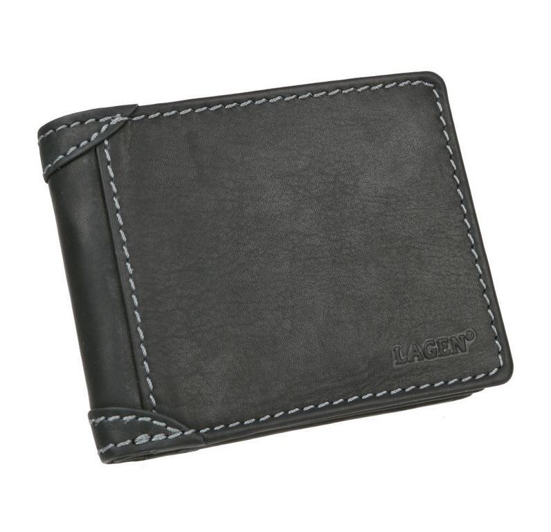 9ee1b2d3c24d Štýlová čierna pánska peňaženka LAGEN