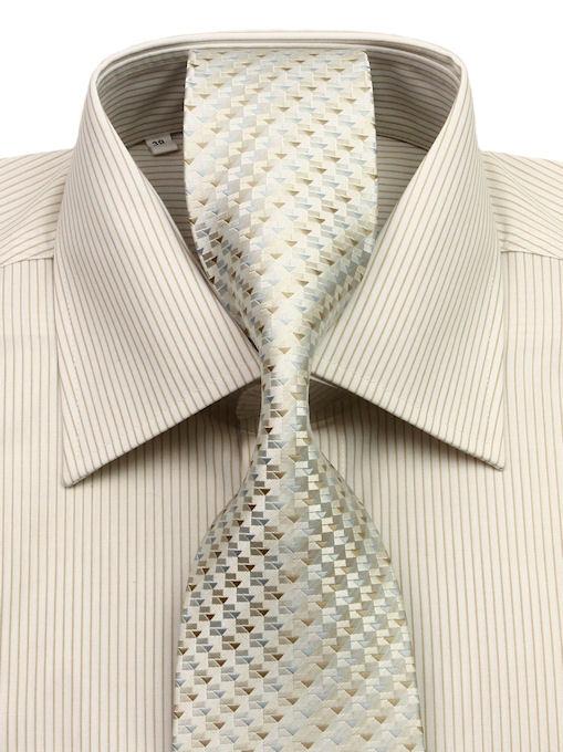 167c050db69e Béžovo-piesková košeľa KLEMON s kravatou - All4Men.sk
