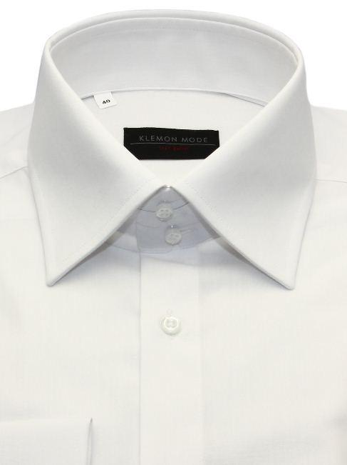 8f1c4cddf5f7 Biela košeľa SLIM s vysokým golierom na manžetové gombíky - All4Men.sk