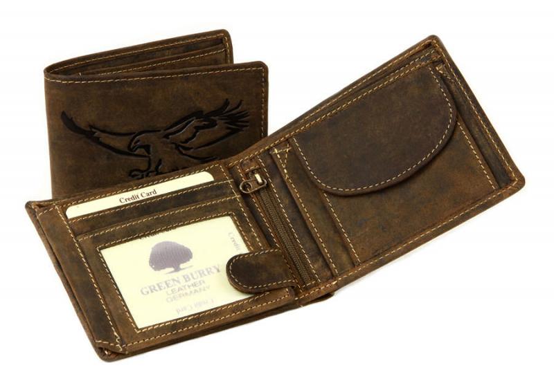 9350b02093 Peňaženka z brúsenej kože GreenBurry PANAMA 2796E-25 - All4Men.sk