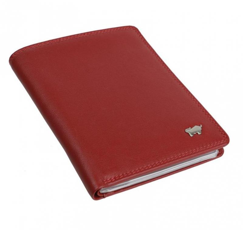 0998f0a24 BRAUN BUFFEL Kožené puzdro na doklady a karty 92448 červené - All4Men.sk