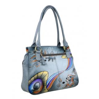 Dámska kožená kabelka PATTY s potlačou TUSCANY  cf76f7ae5e2