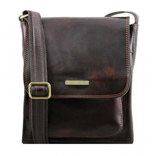 Crossbody taška JIMMY dark brown | TUSCANY LEATHER 141407 DBR