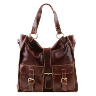 Dámska kožená kabelka hnedá MELISSA TUSCANY LEATHER 140928 1361c31e973