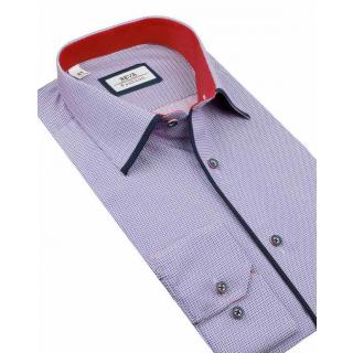Modrá mriežkovaná SLIM FIT košeľa VENTI 172810400  c9d60e6fe3