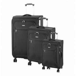 cc41334f4b3c9 Cestovný kufor D&N 6404 čierny s TSA zámkom set ...