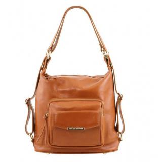 Štýlová kožená kabelka s rúčkami WOVEN ZN. TUSCANY red  a54f2ebdf27
