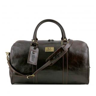89433df35f Exkluzívna cestovná taška tmavohnedá TUSCANY VOYAGER väčšia