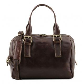 Dámska kožená kabelka čokoládová hnedá TUSCANY SOFT BAG  dac8d14d052