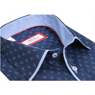 f8393079c5b4 Štýlová pánska košeľa biela-kombinovaná VENERGI (nadmerná veľkosť ...