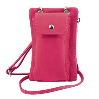 Mini crossbody taška- puzdro na smartfón TUSCANY SOFT ružové 281ca946805