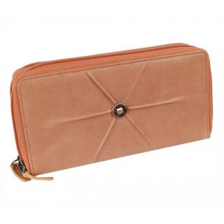 bbac236dc0 Dvojzipsová dámska peňaženka 26 kariet BRANCO oranžová