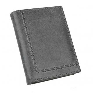 Pánska kožená peňaženka RFID s vnútornou prackou šedá d7f019f5c65