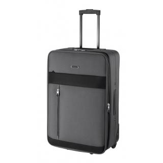 e805ad9d69f95 Odľahčený cestovný kufor TRAVEL LINE, veľký šedý 3,2 kg