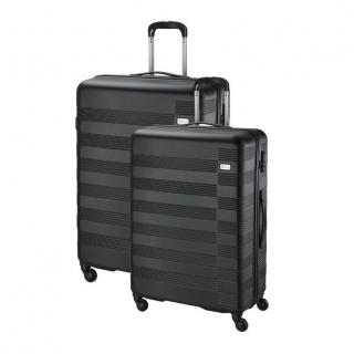 a4a480658c098 Sada cestovných kufrov 2-dielna, škrupinový čierny