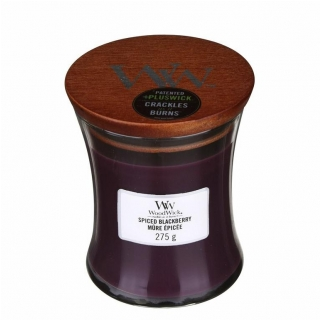 Vonná sviečka Woodwick - Spiced Blackberry 275g