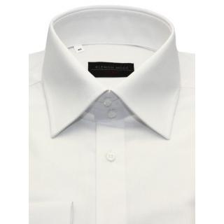 161f6909f277 Biela košeľa SLIM s vysokým golierom na manžetové gombíky