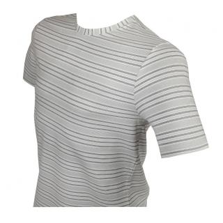 8ff9b6b4b7a6 Pánske elastické tričko FAVAB LIN bielo-šedé