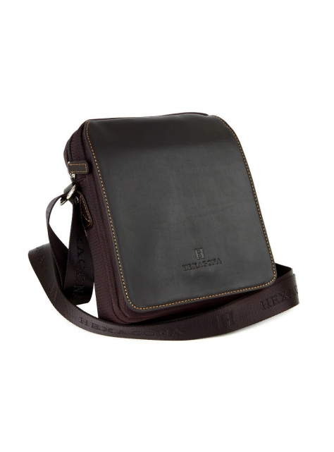 Príručná taška na rameno HEXAGONA nylon-koža 34a8c43c227