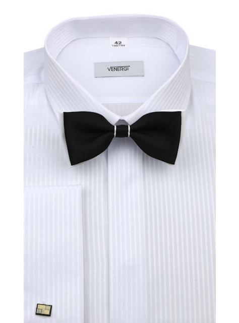 3bb292a86511 Biela košeľa na manžetové gombíky (predĺžená klas.strih) VENERGI -  All4Men.sk
