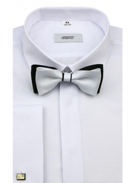 6b9793623e29 Biela košeľa na manžetové gombíky (klasický s.) VENERGI - All4Men.sk