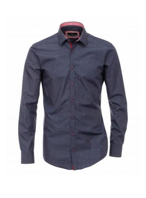 06f453d7cee9 Modro-šedá luxusná biznis košeľa VENTI (super slim) - All4Men.sk