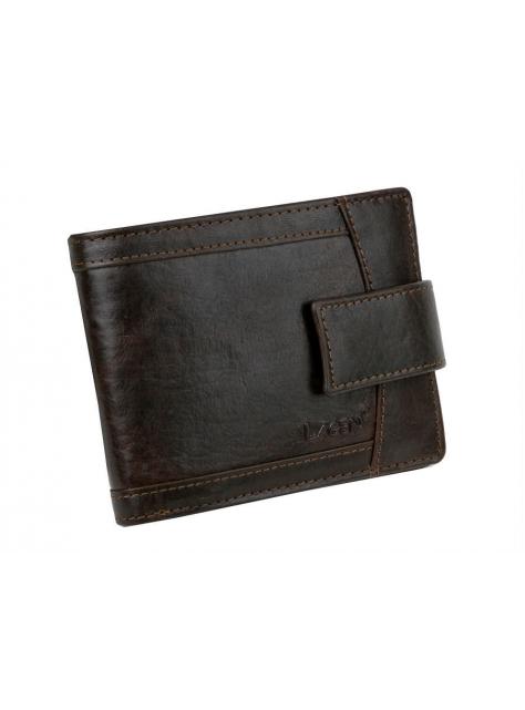 03927bb68f0e Tmavohnedá pánska peňaženka s prackou LAGEN koža - All4Men.sk