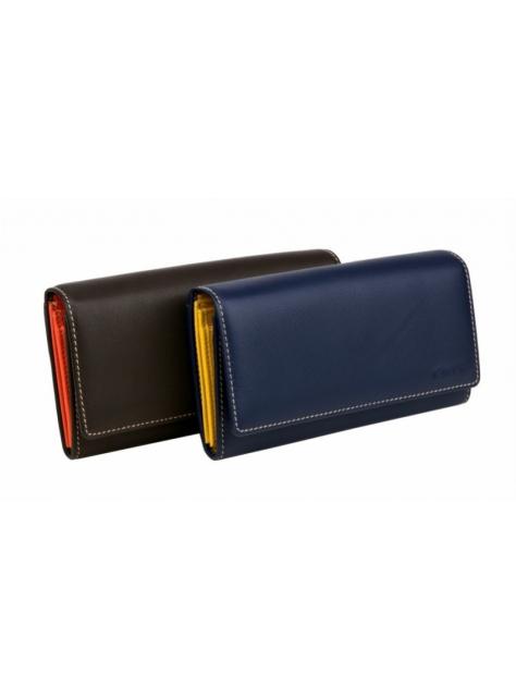Exkluzívna dámska kožená peňaženka hnedo-oranžová LAGEN 11230 - All4Men.sk cf4937e4662