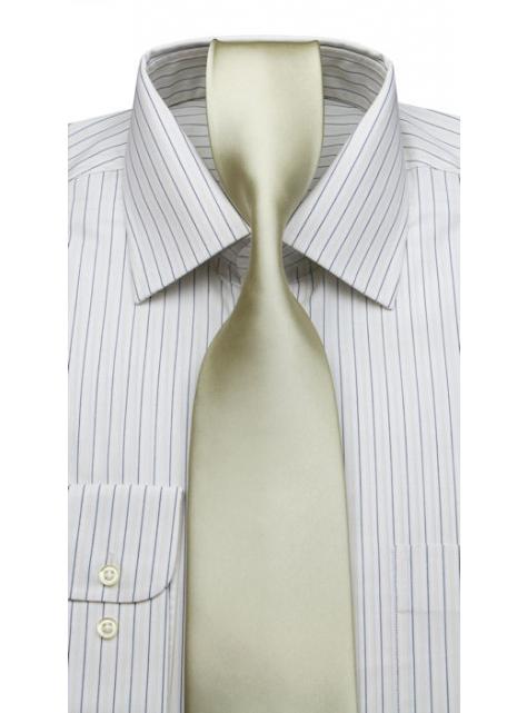 7ad274446a31 Biela prúžkovaná košeľa KLEMON (klasický s.) 20-188 - All4Men.sk