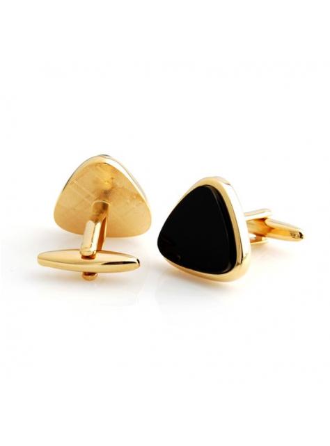 70f7219564db Manžetové gombíky zlaté s čiernou výplňou 001-121 - All4Men.sk