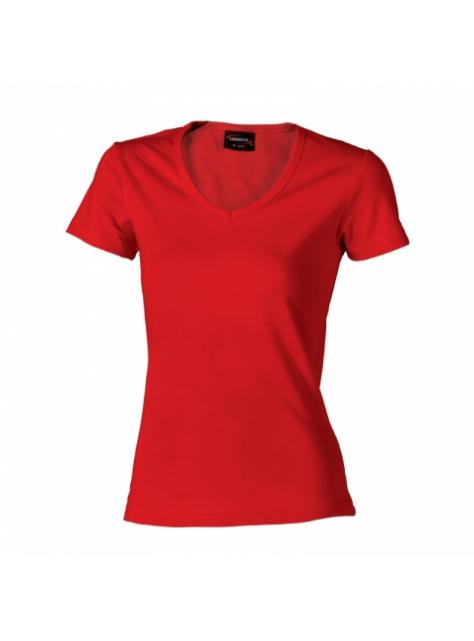 3cb04baa3140 Červené dámske tričko z mäkkej bavlny veľ. XL - All4Men.sk