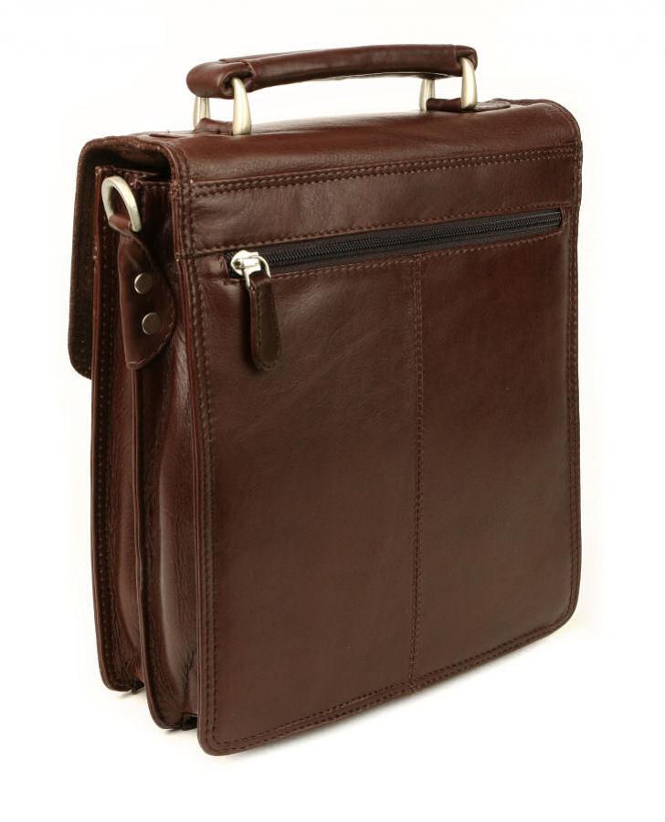 c27933cec4 BRANCO Pánska kožená taška na rameno čierna