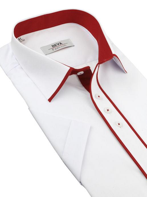 a8e9a865b95d Elegantná bielo-červená košeľa