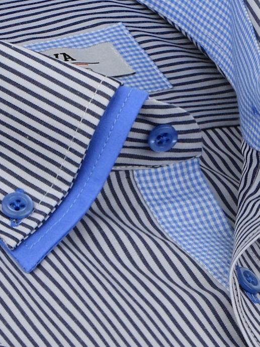 41d772778998 Šedo-modrá košeľa BEVA Fashion
