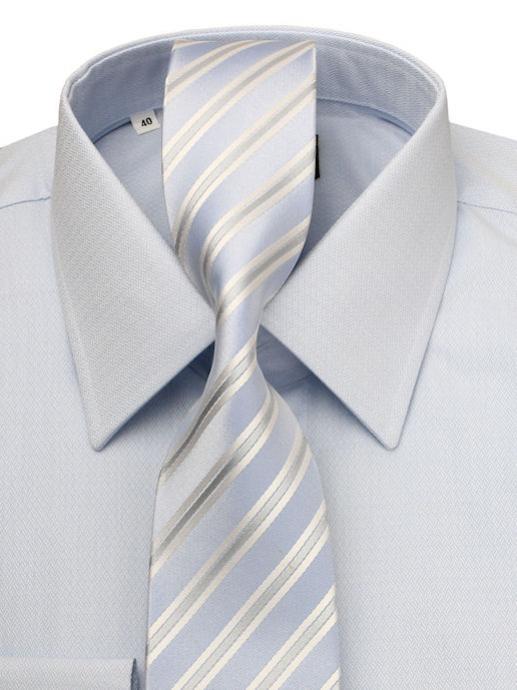 d706777a0 Modrá košeľa KLEMON s kravatou (slim) | All4Men.sk | All4Men.sk