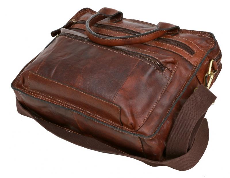 7d764556ac853 Taška na notebook kožená LAGEN 22016-TAN | All4Men.sk