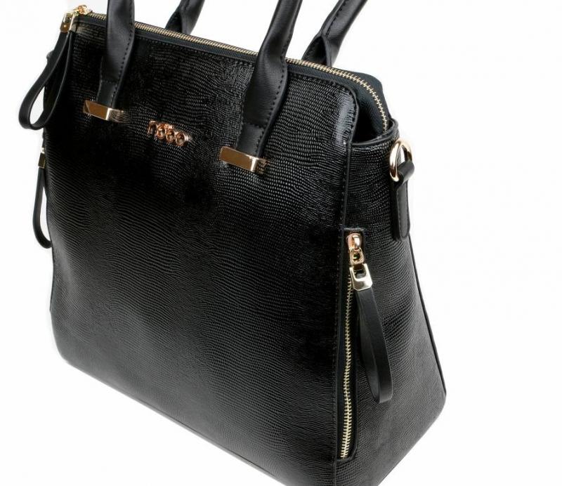 Čierná elegantná kabelka NÓBO 477ee60a938