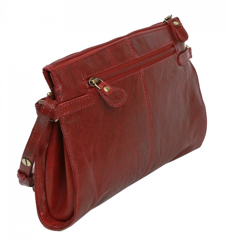Dámska kožená kabelka bordo 28x18 cm LAGEN 3377  c16b02b09e6