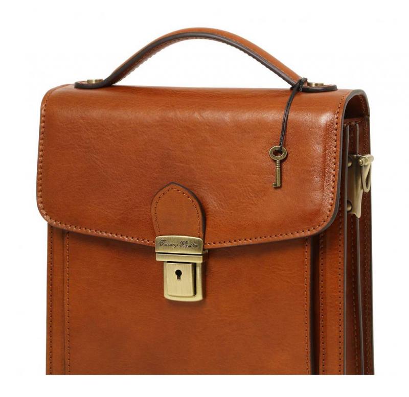 682eb2f8dd Luxusná taška DAVID TUSCANY LEATHER hnedá menšia