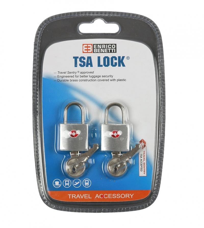 c2fc317628c7d Mosadzný TSA zámok-klatka na kľúč BENETTI 2 ks | All4Men.sk