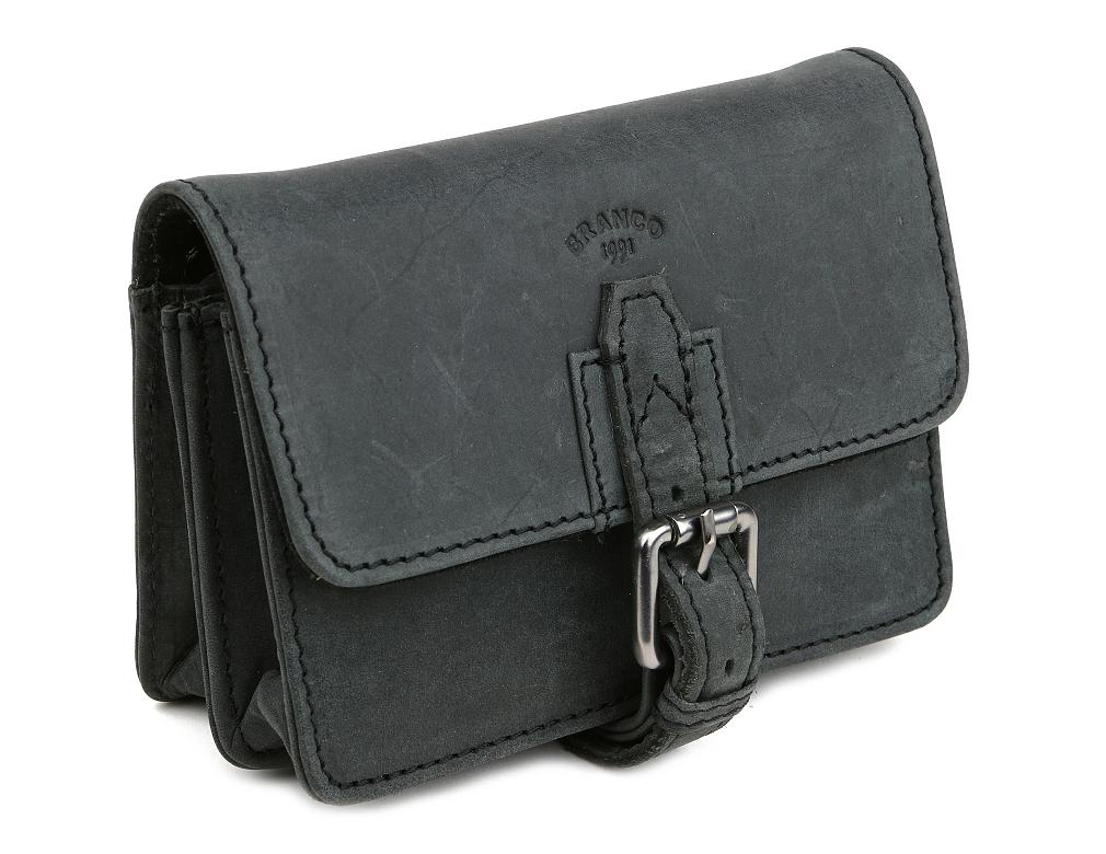 f192cccc9a8b3 Kožená taška na opasok BRANCO, čierna | All4Men.sk