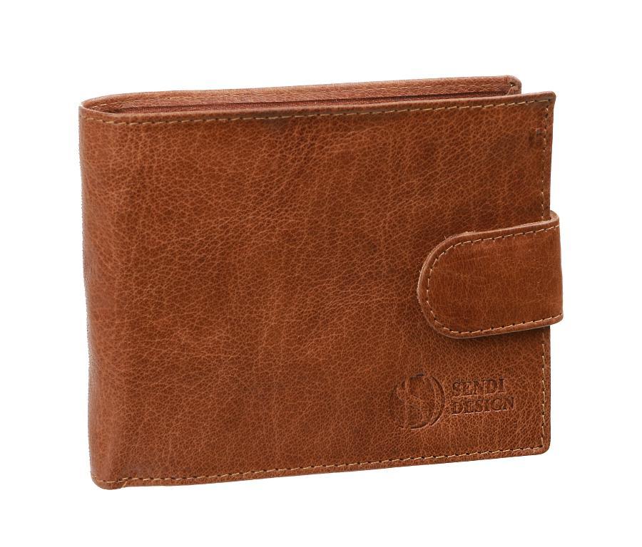 061c98ea2 Kožená pánska peňaženka s prackou SENDI hnedá SNW6947 | All4Men.sk